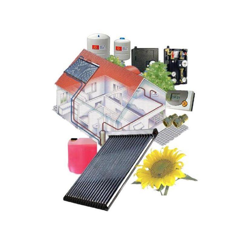 Solarthermie Komplettanlage, Solarthermie Set, Röhrenkollektoren, Flachkollektoren