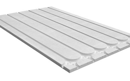 Klimaboden Längsplatte mit Umlenkung, Fußbodenheizung Trocken-Estrich-Strukturplatte für Heizrohr