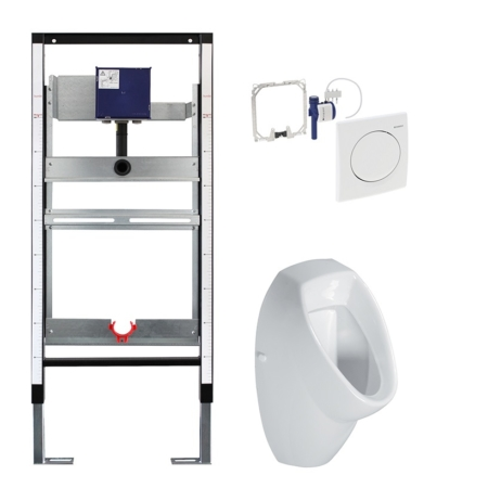 M-Tec-Urinal-Element-mit-Basic-Rohbauset-Sanmont Vorwandelement Sanitär