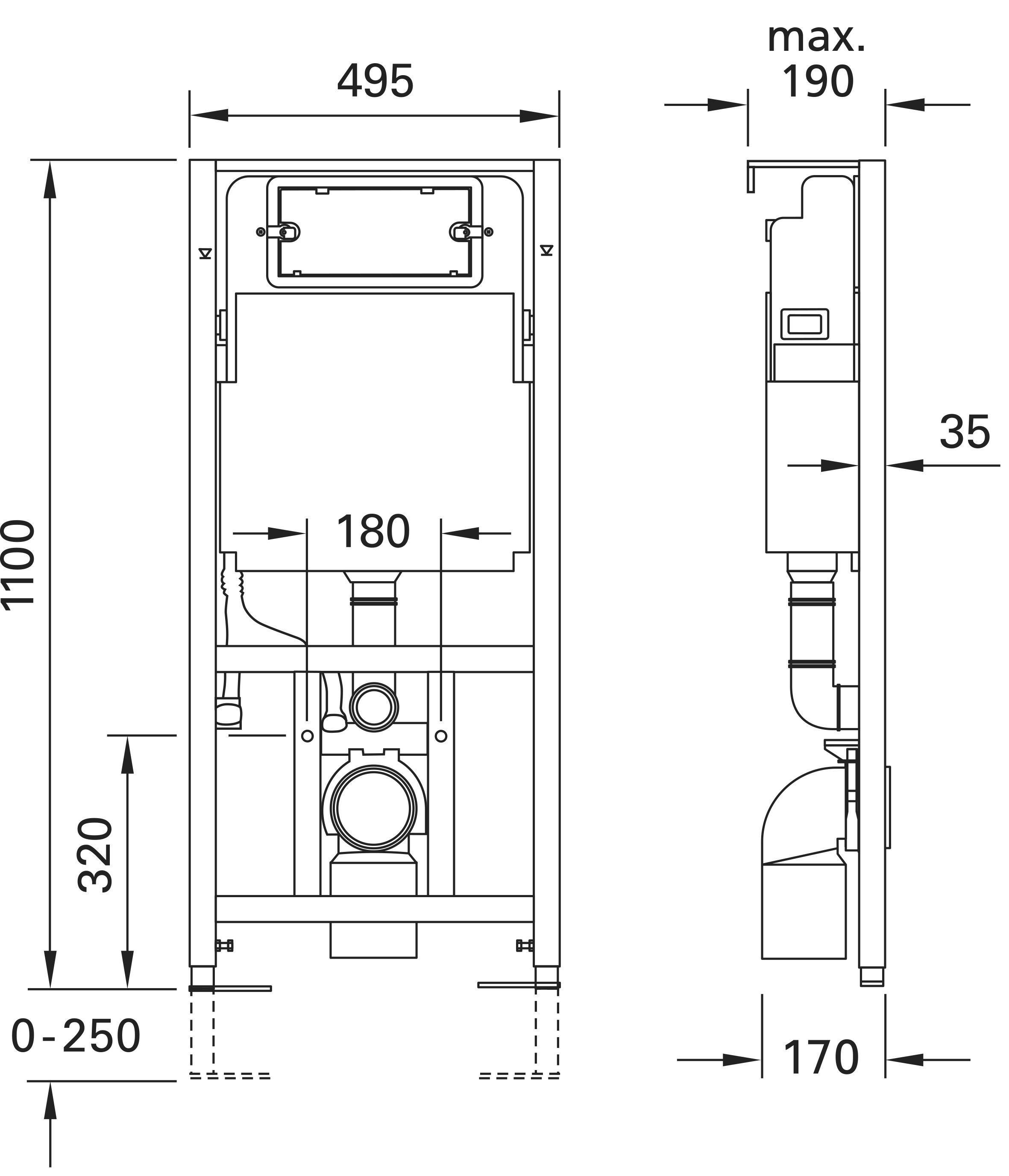 vorwandelement mit sp lkasten geberit incl wand wc. Black Bedroom Furniture Sets. Home Design Ideas